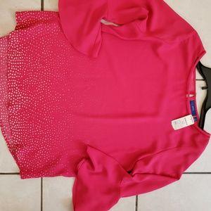 Pink Apt 9 Blouse NWT medium
